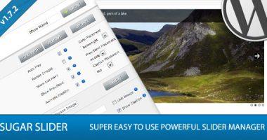 Sugar Slider – Premium WordPress Slider Manager