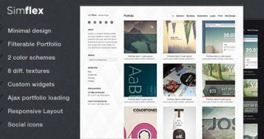 Simflex – portfolio/blog wordpress theme