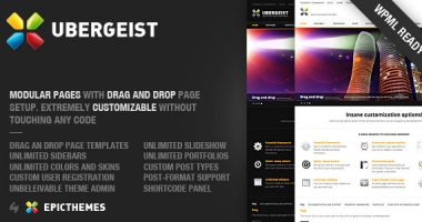 Ubergeist – All-purpose WordPress theme