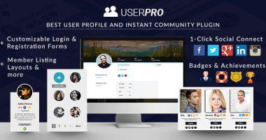 UserPro – WordPress前端用户注册登录插件汉化版[4.9.9]