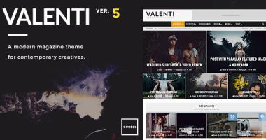Valenti – WordPress高清视网膜支持杂志型主题[5.5.2]