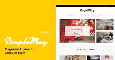 SimpleMag – 杂志型多用途WordPress主题[ v4.4 ]
